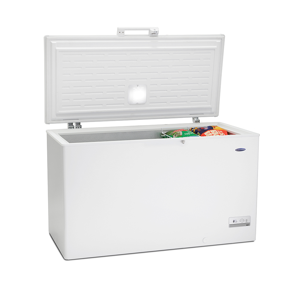 Cfap429w Chest Freezer Freezers Iceking 100 Box This Spacious 429 Ltr Has An Easy Access Basket For Your Favourite Food Items And Counterbalanced Lid Ease Of Use